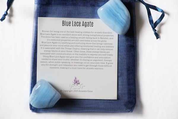 Blue lace agate, blue stones, blue crystals, what does blue agate do, blue agate for anxiety,